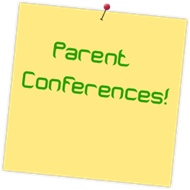 Parent Conferences Stickie Note