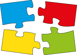cartoon puzzle pieces